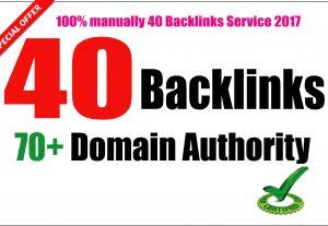 Build 40 PR9 DA 70-100 SEO Backlinks