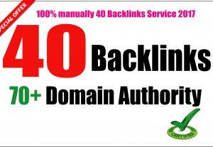Build 40 PR9 DA 70-100 SEO Backlinks