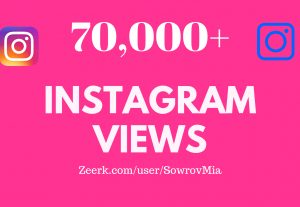 Super 70,000+ Instagram High Quality Video Views & Non Drop