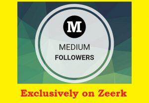 100 Medium Followers Non drop High Quality