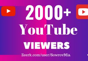 2000+ YouTube Views (Get Very Cheap Rate)