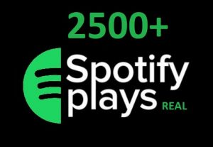2500+ HQ Spotify Streams For Your Spotify Track