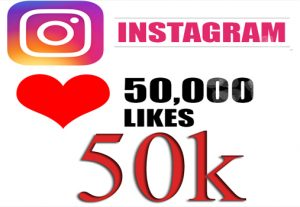 50,000 Instagram like(50k) like you 50/000 people