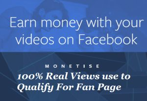 I will provide 4000+ Face Book Monetizable Views (For Fan Page Enable