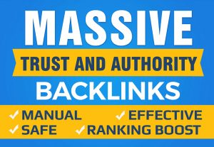 Massive Authority Backlinks – Rank in Google in 10-15 Days