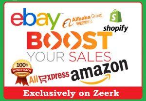 Promote your Amazon, eBay, Etsy, Alibaba Store for 30 Days
