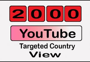 GET 2000+ Youtube targeted country windows desktop watch view