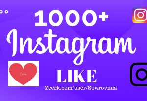 Instant 1000+ Likes to Instagram Posted Picture Real & Active Users.