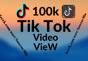 Special 100k TikTok Views Fast time delivery
