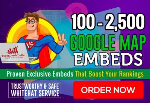 I will  Embed Your Google Map In Web2 Sites For Local SEO