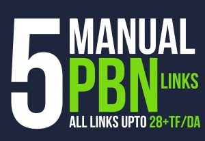 Provide 5 High PBN Backlinks for your website or blog