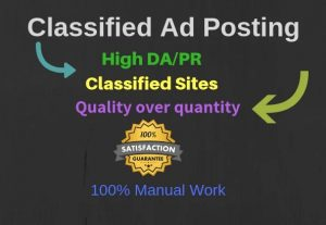 I will do classified ad posting for you within 24 hours