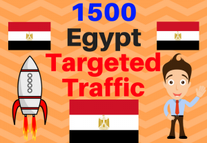 1500 Egypt TARGETED traffic to your web or blog site