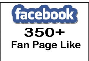 Get 350+ Fcebook Fan page Like,Life Time Guranteed Service