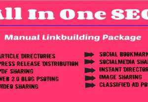 All in one SEO manual linkbuilding  services.