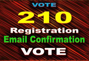 210 Registration with Email Confirmation Vote WW/USA based