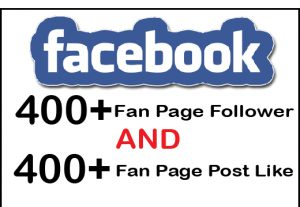 Get 400+ Facebook Fan Page Follower And 400+ Post Like For 5$