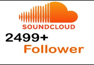 Get 2499+ SoundCloud Follower real acvtice and non drop and guranteed