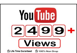 Get 2499+ Instant YouTube Real View,Life Time Guranteed