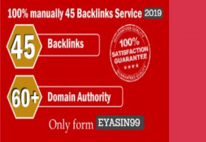 I will give you Limited Time- 45 Backlinks from High DA-60+ Domains-Skyrocket your Google RANKINGS
