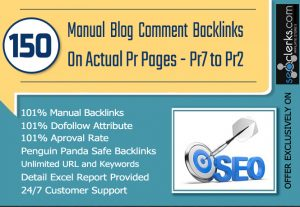 do 150 MANUAL Dofollow Backlinks on PR7 to PR2 for $10