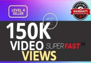 I Will give you SUPER INSTANT 150K+ HIGH QUALITY SOCIAL VIDEO VIEWS With Lifetime Guaranteed for $5