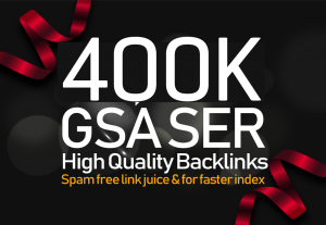 I will give you 400,000 GSA SER Backlinks For Increase Link Juice and Faster Index on Google for $7