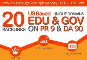 I will MANUALLY DO 20 PLUS US BASED EDU GOV LINKS ON DA90 PR9 UNIQUE DOMAINS for $10