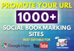 I Will give you 1000 HQ Social Bookmarks Backlinks for your Website, Keyword and Youtube for $5