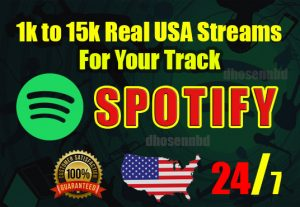 get organic 5000+ Spotify stream or permanent followers music promotion