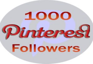 I will give you 1000+ high quality pinterest followers non drop and real world wide followers for $5