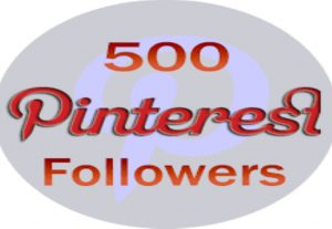 I will give you 500+ high quality pinterest followers non drop and real world wide followers for $3
