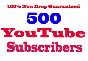 I will Give You 500+ YouTube Subscribers 100% Non Drop Guaranteed & High Quality [Instant Start]