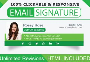 I will create an HTML email signature or clickable email signature