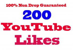 I will Give You 200+ YouTube Likes 100% Non Drop Guaranteed & Real Active User  [Instant Start]