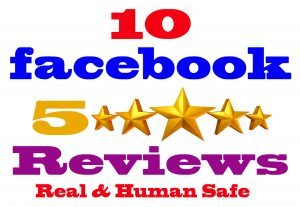I will Give you 10 Facebook five star rating and review   [Real & Human safe]