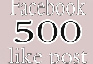 Instant 500 Facebook Post Likes Non Drop & High Quality