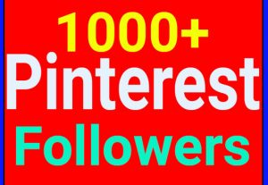 I will Add 1000+ Pinterest Followers OR repin OR likes