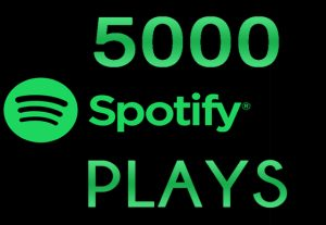 I will send you 5000+ spotify track plays  ROYALTIES ELIGIBLE
