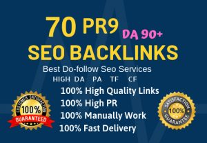 70 High quality powerful seo backlinks DA-80-100