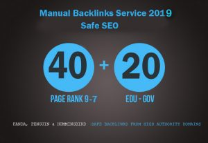 High Quality (60) Backlinks 40 (PR9-PR7) profile and 20 edu/gov links
