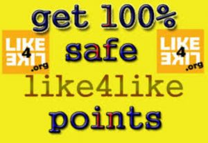10000 like4like points Sales Promotion for $4