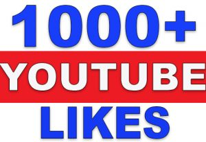 1000+ YouTube Likes | NoN-Drop | Fast Delivery