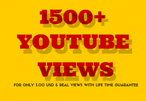 Instant Start 1500+ YouTube Video Views | Real – Cheap & Non-Drop | Good For Ranking