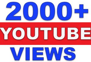 2000+ Real YouTube Video Views | None-Drop | Fast Delivery