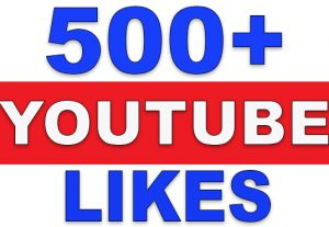 500+ YouTube Likes | NoN-Drop | Fast Delivery