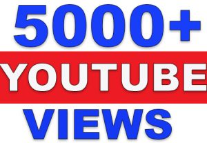 5000+ Real YouTube Video Views | None-Drop | Fast Delivery