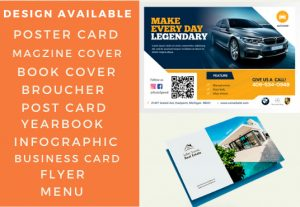 I will design a postcard, flyer, greeting card or business card