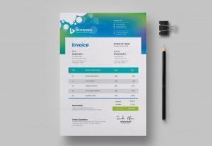 I will create invoice design in 24 hours