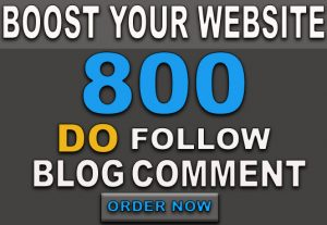 I will build 800 high-quality blog comment backlinks